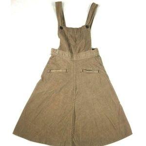 Vintage 70s corduroy jumper dress Landlubbers Bibs
